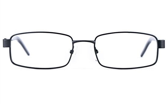 Poesia 6637 Stainless Steel/PC Mens&Womens Square Full Rim Optical Glasses