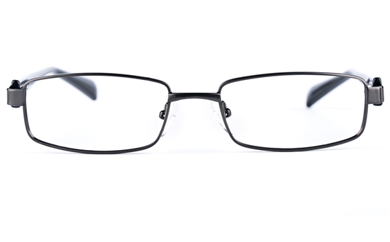 Poesia 6635 Stainless Steel/PC Mens&Womens Rectangle Full Rim Optical Glasses