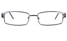 Poesia 6639 Stainless Steel/PC Mens Womens Rectangle Full Rim Optical Glasses for Fashion,Party,Nose Pads Bifocals