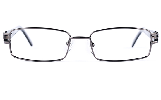 Poesia 6639 Stainless Steel/PC Mens&Womens Rectangle Full Rim Optical Glasses