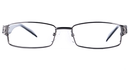 Poesia 6641 Stainless Steel/PC Womens Rectangle Full Rim Optical Glasses for Fashion,Party,Nose Pads Bifocals