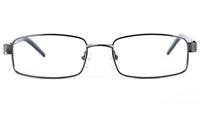 Poesia 6637 Stainless Steel/PC Mens&Womens Square Full Rim Optical Glasses