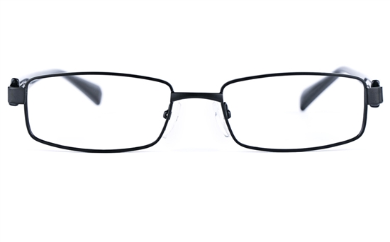 Poesia 6635 Stainless Steel/PC Mens&Womens Rectangle Full Rim Optical Glasses