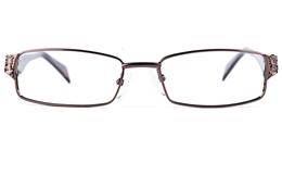 Poesia 6641 Stainless Steel/PC Womens Rectangle Full Rim Optical Glasses