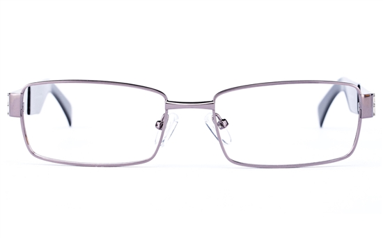 Vista Sport 9101 Stainless Steel Mens Square Full Rim Optical Glasses
