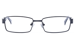 Vista Sport 9101 Stainless Steel Mens Square Full Rim Optical Glasses for Fashion,Classic,Party,Nose Pads Bifocals