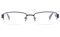 Vista Sport 9102 Stainless Steel Mens Square Semi-rimless Optical Glasses