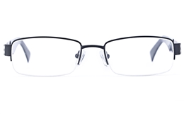 Vista Sport 9102 Stainless Steel Mens Square Semi-rimless Optical Glasses for Fashion,Classic,Party,Nose Pads Bifocals