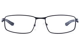 Vista Sport 9103 Stainless Steel Mens Square Full Rim Optical Glasses for Fashion,Classic,Nose Pads Bifocals