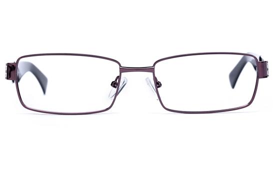 Vista Sport 9101 Stainless Steel Mens Square Full Rim Optical Glasses
