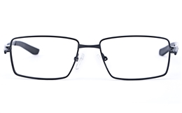 Vista Sport 9105 Stainless Steel Mens Square Full Rim Optical Glasses for Fashion,Classic,Party,Nose Pads Bifocals