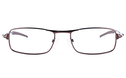Vista Sport 9108 Stainless Steel Mens Square Full Rim Optical Glasses for Fashion,Classic,Party,Nose Pads Bifocals