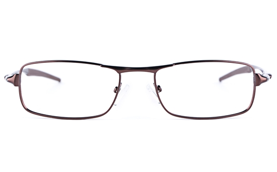 Vista Sport 9108 Stainless Steel Mens Square Full Rim Optical Glasses