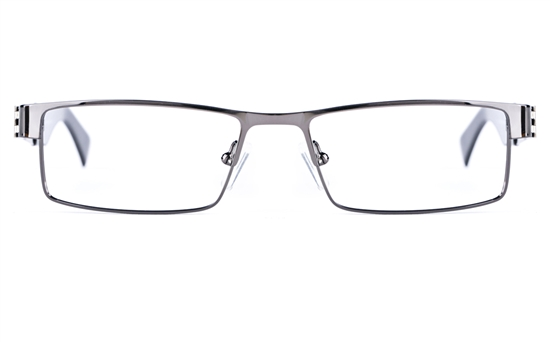 Vista First 1627 Stainless Steel Mens Square Full Rim Optical Glasses