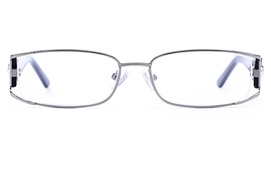 Vista First 8811 Stainless Steel/ZYL  Womens Oval Full Rim Optical Glasses