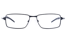 Vista Sport 9107 Stainless Steel Mens Square Full Rim Optical Glasses for Fashion,Classic,Party,Nose Pads Bifocals