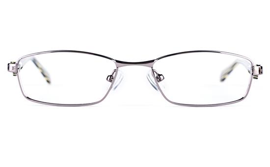 Vista Kids 5814 Stainless Steel/ZYL  Kids Square Full Rim Optical Glasses