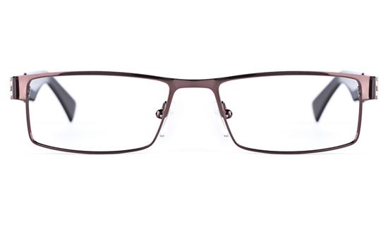 Vista First 1627 Stainless Steel Mens Square Full Rim Optical Glasses