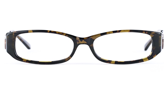 Vista First 0809 Stainless Steel/ZYL  Womens Oval Full Rim Optical Glasses