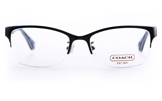 32892c0a057 Coach HC5038 Acetate Womens Cat eye Semi-rimless Optical Glasses