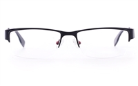 Vista First U1108 Stainless steel Mens Rectangle Semi-rimless Optical Glasses