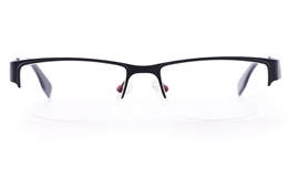 Vista First U1108 Stainless steel Mens Rectangle Semi-rimless Optical Glasses for Fashion,Classic Bifocals