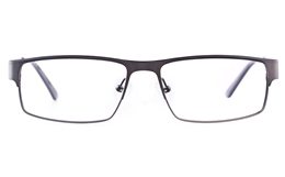 Vista First U1122 Stainless steel Mens Rectangle Full Rim Optical Glasses for Classic,Nose Pads Bifocals