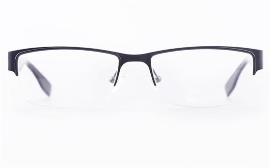 Vista First U1108 Stainless steel Mens Rectangle Semi-rimless Optical Glasses