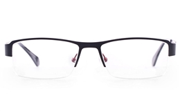 Vista First U3305 Stainless steel Mens Rectangle Semi-rimless Optical Glasses