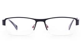 Vista First U3305 Stainless steel Mens Rectangle Semi-rimless Optical Glasses