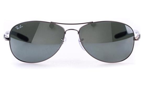 Ray-Ban RB8301 Stainless steel Mens Oval Full Rim Sunglasses