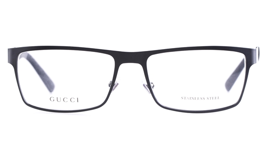 f5a1a476406 Gucci GG2228 Stainless steel Mens Square Full Rim Optical Glasses ...