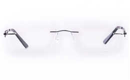 Vista First LT554-1 TITANIUM Mens Womens Square Rimless Optical Glasses for Fashion,Classic,Nose Pads Bifocals