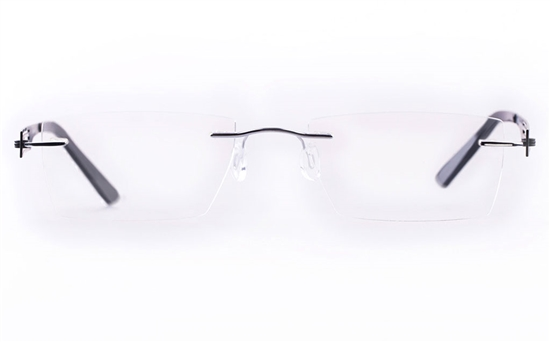 Vista First LT554-1 TITANIUM Mens&Womens Square Rimless Optical Glasses