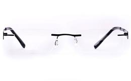 Vista First LT689-1 TITANIUM Mens Womens Rectangle Rimless Optical Glasses for Fashion,Classic,Nose Pads