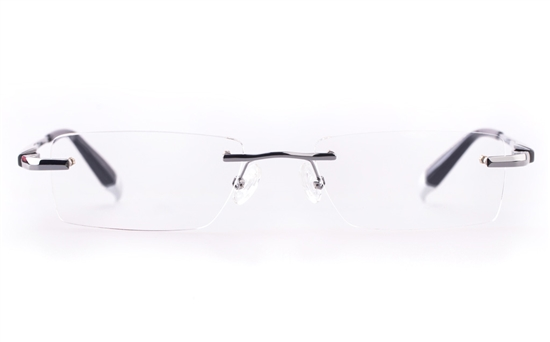 Vista First LT475-3 TITANIUM Mens&Womens Rectangle Rimless Optical Glasses