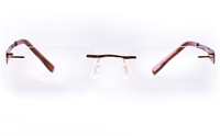 Vista First LT689-1 TITANIUM Mens&Womens Rectangle Rimless Optical Glasses