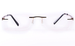 Vista First LT687-1 TITANIUM Mens Womens Square Rimless Optical Glasses for Fashion,Classic,Nose Pads Bifocals