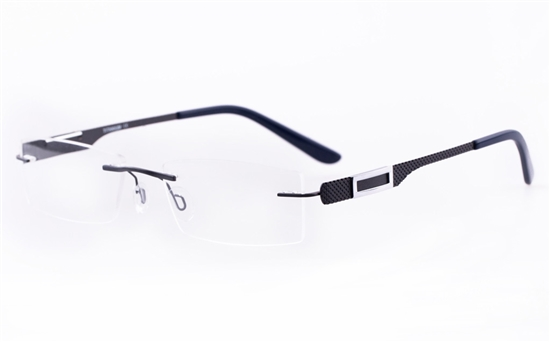 Vista First LT579-1 TITANIUM Mens&Womens Rectangle Rimless Optical Glasses