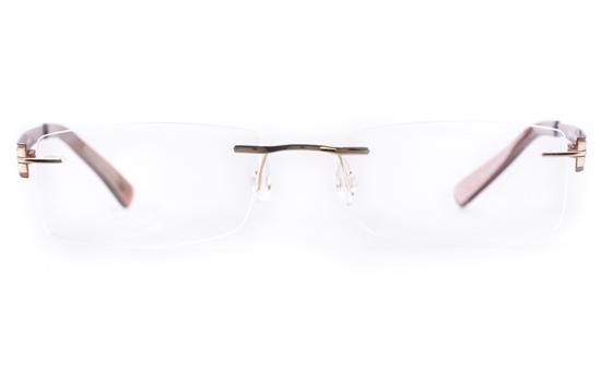 Vista First LT638-1 TITANIUM Mens&Womens Square Rimless Optical Glasses
