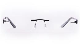 Vista First LT579-1 TITANIUM Mens Womens Rectangle Rimless Optical Glasses for Fashion,Classic,Nose Pads