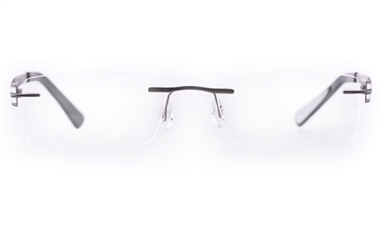 Vista First LT638-1 TITANIUM Mens&Womens Square Rimless Optical Glasses