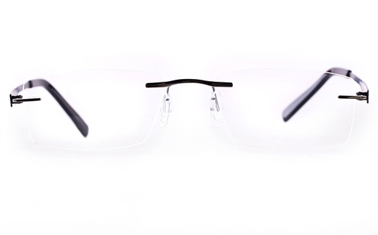 Vista First LT687-1 TITANIUM Mens&Womens Square Rimless Optical Glasses