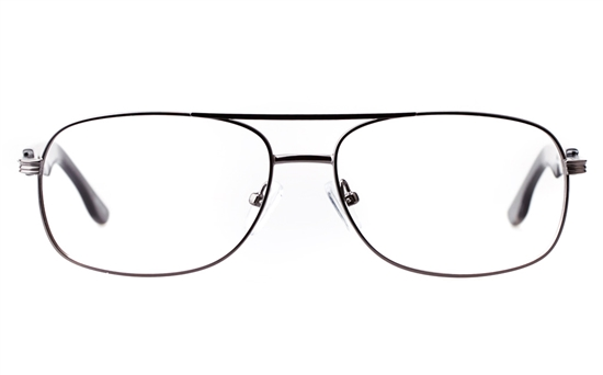 b1d317ad45 Vista First 1630 Stainless steel Mens Square Full Rim Optical Glasses