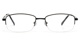 Poesia 6035 Stainless steel Mens   Womens Semi-rimless Optical Glasses for Fashion,Classic,Party,Nose Pads Bifocals