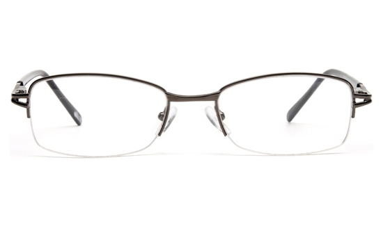 Poesia 6041 Stainless steel Womens Semi-rimless Optical Glasses