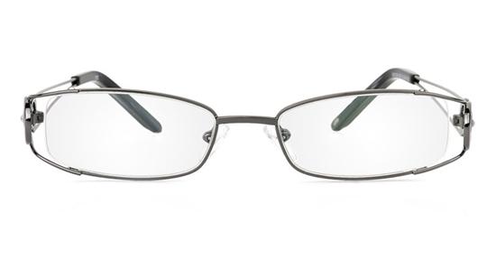 Vista First 1070 Stainless Steel/ZYL Half Rim Womens Optical Glasses