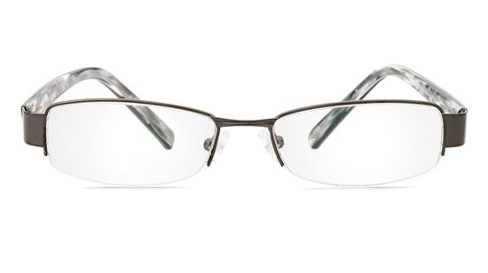 Vista First 1078 Stainless Steel/ZYL Half Rim Mens Optical Glasses