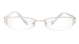 Vista First 1053 Stainless Steel/ZYL Mens Womens Half Rim Optical Glasses for Classic,Party,Sport,Nose Pads