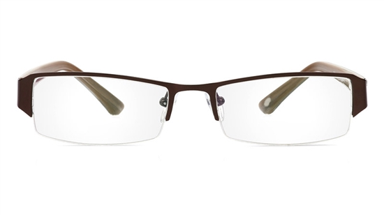 Vista First 1066 Stainless Steel/ZYL Half Rim Mens Optical Glasses